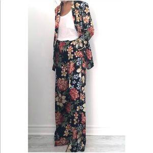 Zara Wide Leg Floral Trousers